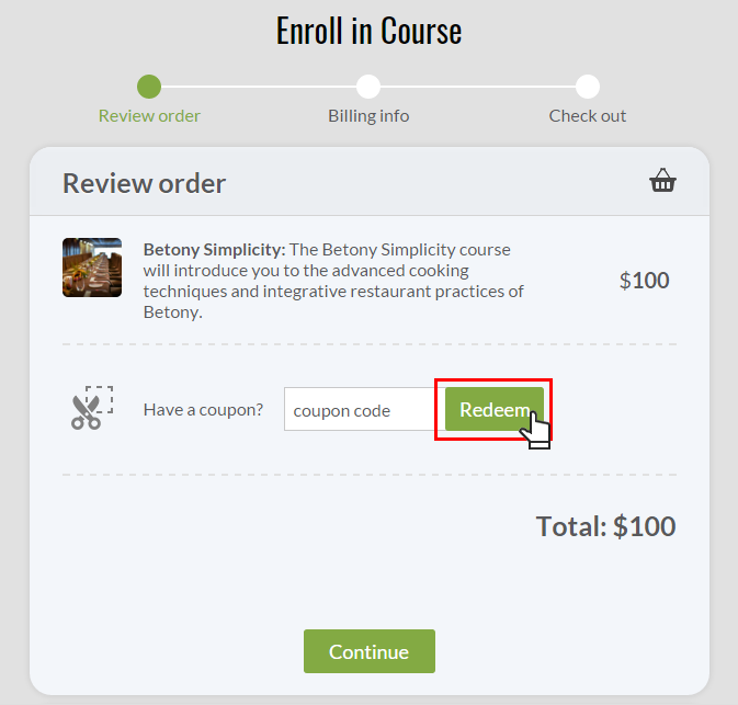 Faqs 3 type your coupon code in the textbox in our example coupon1 and click redeem fandeluxe Choice Image
